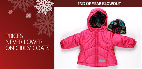 Prices never lower on Girls coats