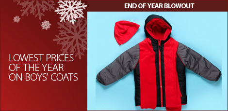 Lowest prices of the year on boys coats
