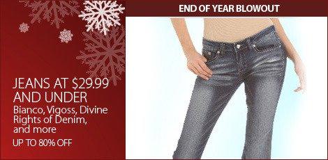 Jeans $29.99 & under