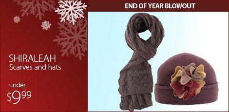 Shiraleah scarves and hats