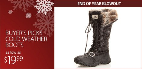 Buyer's picks: cold weather boots