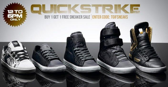 Quickstrike- Buy 1, Get 1 Free Sneaker Sale