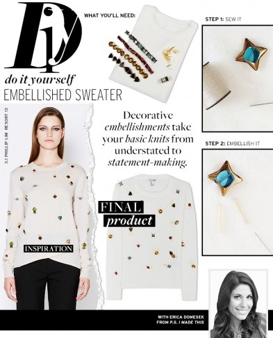 Do It Yourself: Embellished Sweater