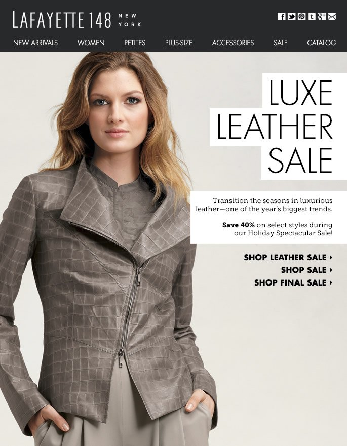 Luxe for Less: 40% Off Select Leather Styles