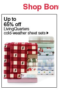 Up to 65% off LivingQuarters cold-weather sheet sets