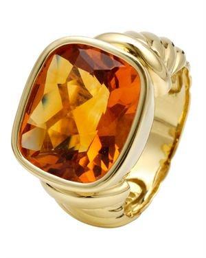 David Yurman 18k Citrine Noblesse Ring
