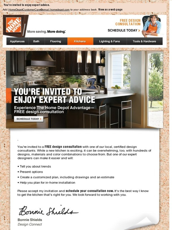 Home Depot Get Your FREE Kitchen Design Consultation Milled