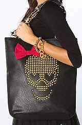 The Skull Candy Tote Bag in Black
