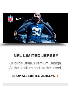 NFL LIMITED JERSEY | Gridiron Style. Premium Design. At the stadium and on the street. | SHOP ALL LIMITED JERSEYS