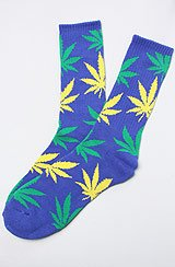 Exclusive Plantlife Socks in Soda Blue, Green, & Yellow