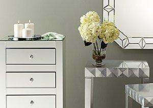 Mirrored & Metallic Accent Furniture