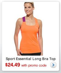 Sport Essential Long Bra Top | $24.49 with promo code