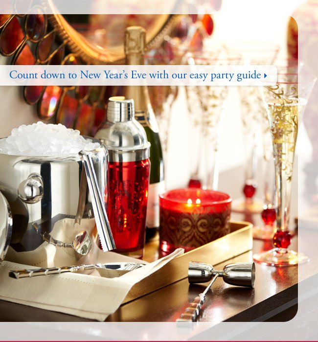 Count down to New Year's Eve with our easy party guide
