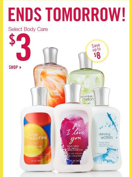 Select Body Care - $3