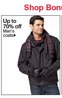 Up to  70% off Men's outerwear