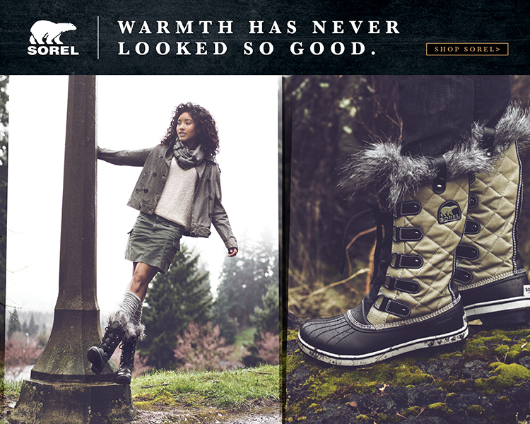 Warm up with Sorel.