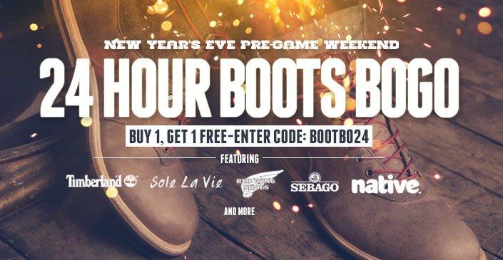 24 Hour Boots BOGO