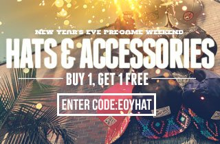 Hats & Accessories: Buy 1, Get 1 Free