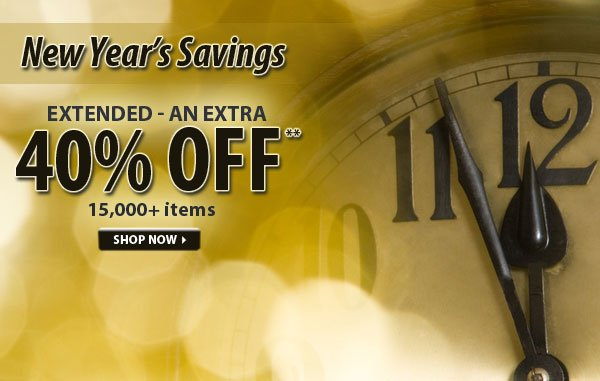 Extended - Top Secret Sale! An Extra 40% OFF over 15,000 Items!