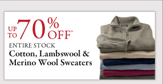 Up To 70% OFF* Cotton, Lambswool & Merino Wool Sweaters