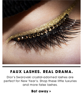 Faux Lashes. Real Drama. Dior's Swarovski crystal-adorned lashes are perfect for New Year's. Shop these little luxuries and more false lashes. Bat away