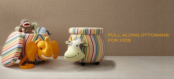 PULL ALONG OTTOMANS FOR KIDS, Event Ends January 2, 9:00 AM PT >