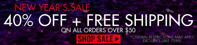 New Year's Sale! 40% Off + Free Shipping!