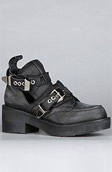 The Coltrane Boot in Distressed Black