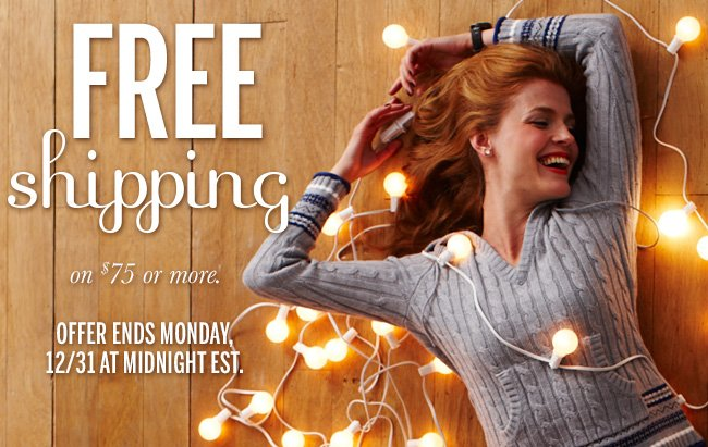 FREE Shipping on $75 or more. Offer ends Monday, 12/31 at midnight EST.
