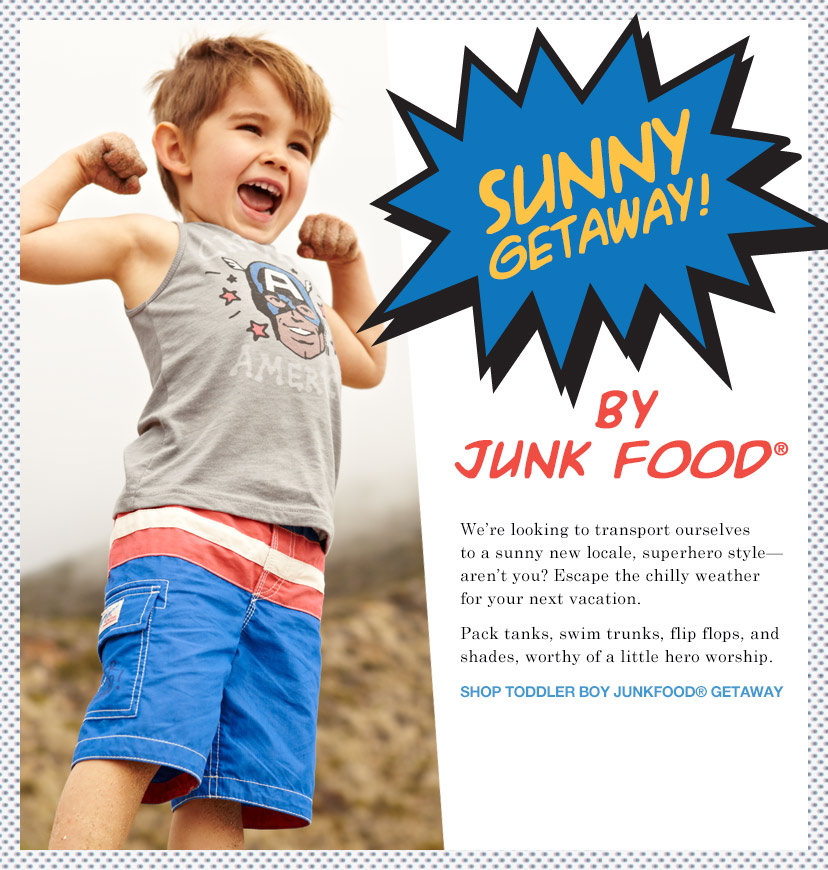 SUNNY GETAWAY! BY JUNK FOOD® SHOP TODDLER BOY JUNKFOOD® GETAWAY