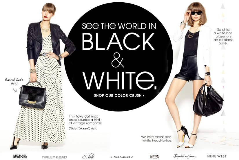 SEE THE WORLD IN BLACK & WHITE. SHOP OUR COLOR CRUSH