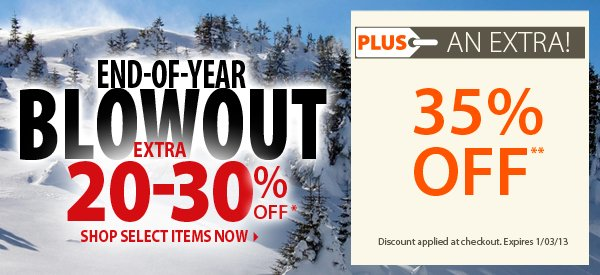 End-of-Year Blowout! An Extra 20-30% OFF!