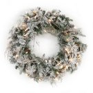 Frosted Whistler Fir Pre-Lit Wreath