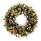 Glittery Pine Pre-Lit Wreath