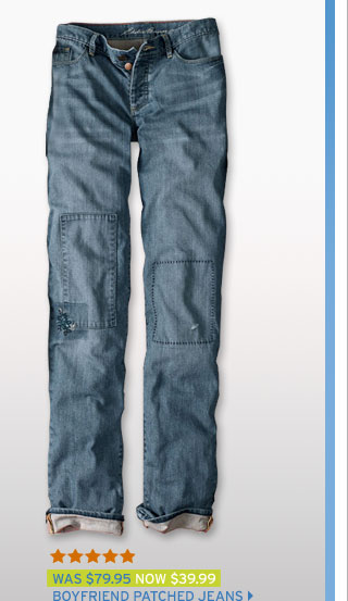 Boyfriend Patched Jeans