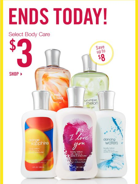 Select Body Care - $3