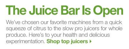 The Juice Bar Is Open