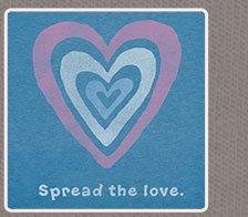 Womens Crusher Tee Spread the Love Hearts