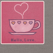 Womens Crusher Tee Hello Love