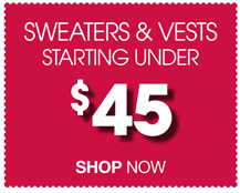 Sweaters & Vests Clearance