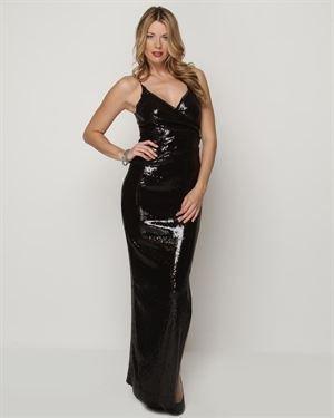 Nicole Miller Sequin Wrap Gown