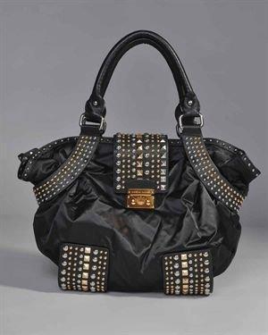 Christian Audigier Studded Handbag