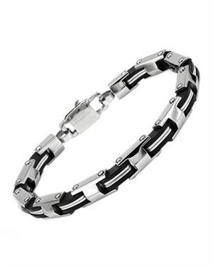 Men's Bracelet Black Resin