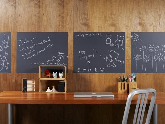 Peel, stick, decorate, remove and reuse- the original chalkboard panels by WallCandy Arts!