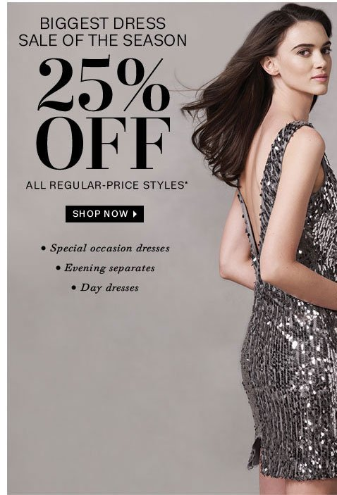 25% off all regular-price styles. Shop now
