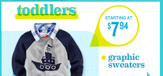 toddlers | STARTING AT $7.94 | graphic sweaters