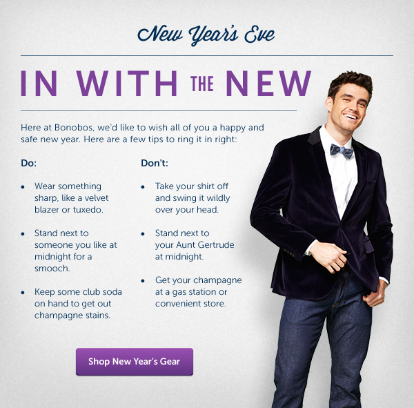 Shop New Year's Gear - In With The New