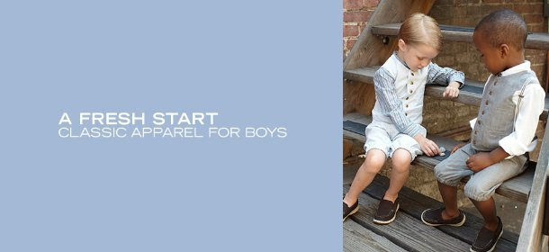A FRESH START:  CLASSIC APPAREL FOR BOYS, Event Ends January 3, 9:00 AM PT >
