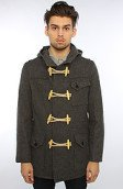 <b>SchottNYC</b><br />The 24oz Natural Duffle Coat in Oxford Gray