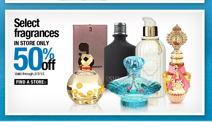 Select Fragrances 50% off